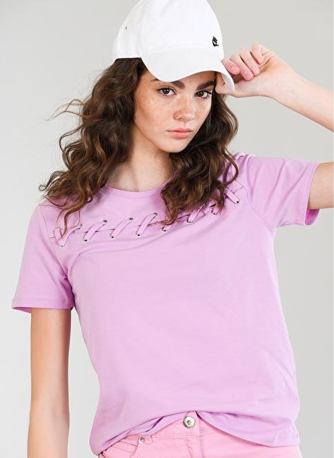 Agenda Bağcık Detaylı Tişört Lila